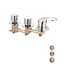 brass wall mount bath shower panel faucet