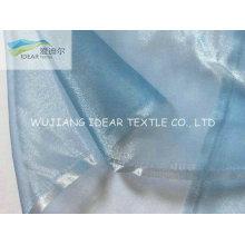 Blau leuchtend Polyester Organza für Hochzeitskleid