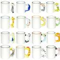High Quality Low Price 11oz Animal Mug Sublimation Glass Mug Heat Press Glass Mug