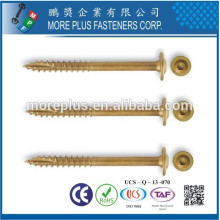 Feito em Taiwan Torx-30 Flat Head Slotted Type 17 com One Cutting On The Thread Screw Screw