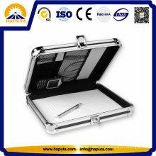 Haputa alumínio caso breve de armazenamento para documentos e portátil