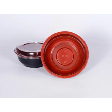 Plastic tray bowl for soup takeout