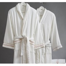 Canasin 5 Star Hotel Velour Bathrobe Luxury 100% cotton
