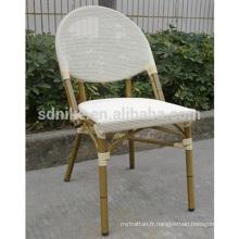 TC- (8) Chaise moderne en tissu teslin / chaise à manger en textile