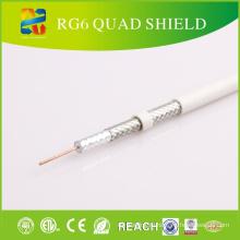 Quad Shield Rg-6 коаксиальный кабель для оборудования CATV / CCTV