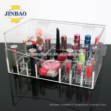 Jinbao Usine En Gros 3mm acrylique transparent maquillage organisateur prix