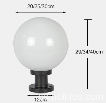 Bola de luz LED de pared solar