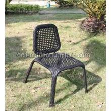 Chaise de maille extérieure acier PE rotin