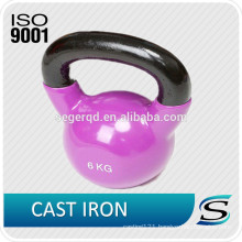 colorful vinyl coated kettle bell