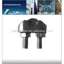 Sujetador de elevador clips de cuerda de alambre