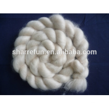 Mongolian Combed Cashmere Tops Light Grey 16.5mic 44mm