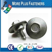 Fabriqué à Taïwan Attaches Automobiles Hex Flange Machine Screw Hex Flange SEMS Vis Screw Nut Special Flange Screws