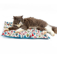 Washable Anti Slip Pet Cushion Fish Design Pillow Canvas Cat Mat Bed