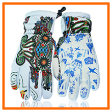 Heat Warm Ski Glove with Print Design Customized (5648465)