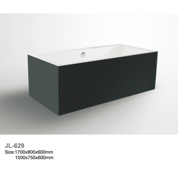 Standarded Rectangular Acrylic Freestanding Hot Bathtub