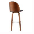 Wood Stool Rounded Bar Chair Dining