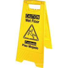 PP plastic warning sign board caution wet floor