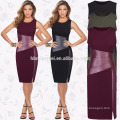 2017 Summer Fashion Women Ladies Casual Clothing Round Neck Sleeveless Knee-length Bodycon Slim Pencil Party Dress Women Dress