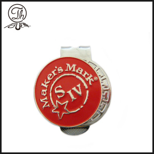 Silver golf ball markers custom
