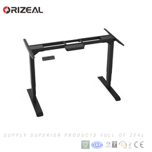 Latest Design Own safe function 3 stage 2 motor electric height adjustable office table sit stand desk Accept OEM