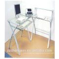 Собранный металлический компьютерный стол с колесами