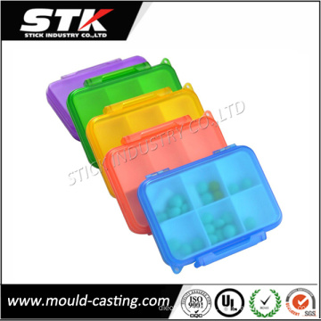 Caja plástica clara de la medicina del moldeo a presión plástico de China