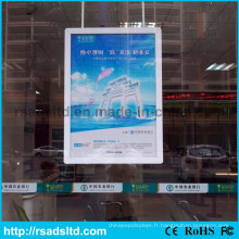 Double boîte à lumière de cadre d'affiche de LED de côtés de Chine