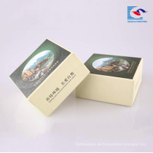 Caja de papel reciclada personalizada del regalo de la cartulina del proveedor de la fábrica para lavar el jabón
