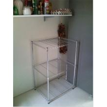 Rack de estanterías de acero inoxidable ajustable y fácil de limpiar