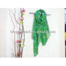 2013 новый дизайн полиэфира маркизета печатных шарф промотирования