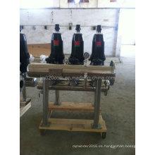 Filtro automático de Dick de acero inoxidable para el tratamiento del agua de riego
