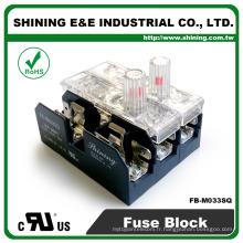 FB-M033SQ UL approuvé égale à Bussmann 3 pôles base de fusibles en céramique 30 A