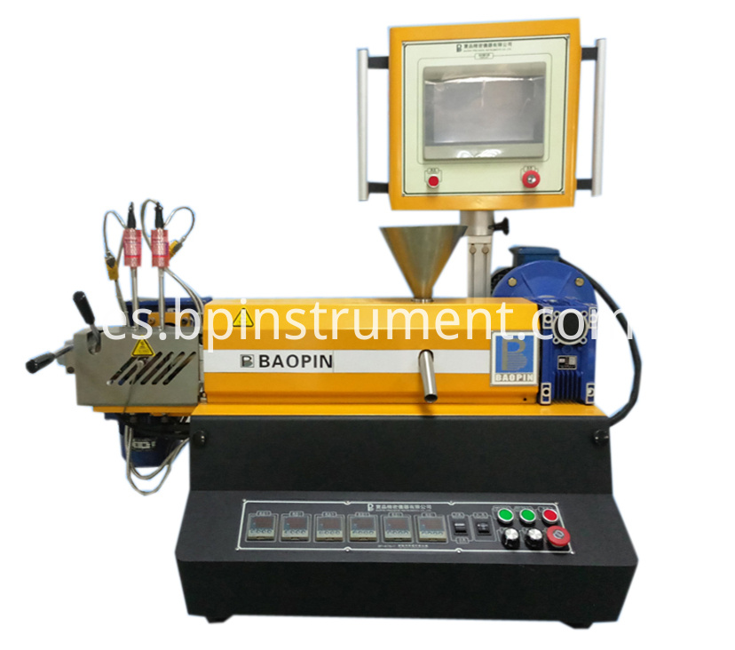 Plc Desktop Small Single Screw Extruder