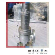 Válvula de alívio flangeada de aço inoxidável de 1500 lb para alta pressão