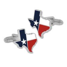 럭셔리 텍사스 스테이트 플래그 커프스 단추 골드 도금
