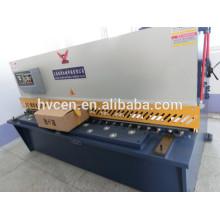 Qc12y-16x2500 cisalhamento hidráulico do feixe do balanço / placa de aço inoxidável que corta a máquina