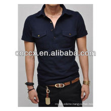 13PT1055 Men's cotton pocket dry fit t shirt polo