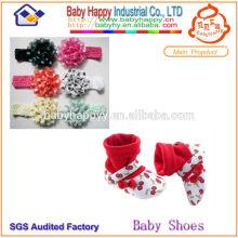 Zapato de calcetín de alta calidad zapato de cuna de bebé