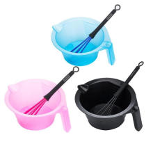 PRO Salon Hair Dyeing Bowl Whisk Hair Coloring Dye Mixer Tint Bowls Dyestuff Whisk Hairdressing Styling DIY Tool