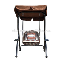 New style metal rattan patio swing for adult cushion with canopy garden furniture