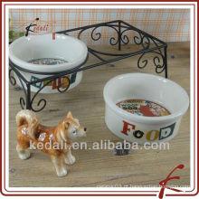 Tigela para cães de porcelana