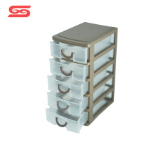 5 layers organizer plastic storage drawers for tabletop