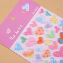 La promoción decorativa caliente de la venta modificó la etiqueta engomada del niño para requisitos particulares de la resina de epoxy