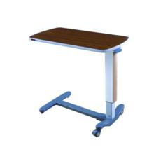 Mesa de cama ajustable de aluminio para hospitales
