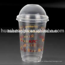 O costume leva embora o copo plástico descartável da impressão 16oz clara