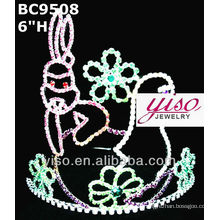 Preciosa corona de cristal y tiara