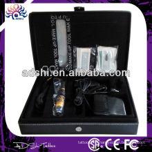 Vente chaude vente en gros professionnel simple permanente en acier inoxydable machine de tatouage Maquillage kit de tatouage DIG-004