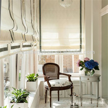 Decoración para el hogar cortina de país americano diseños persianas romanas plisadas