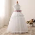 2016 niños de la manera vestido de la muchacha de flor para casarse el último vestido de boda de los niños del cordón del color blanco