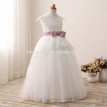 2016 mode enfants fleur fille robe pour mariage dernière couleur blanche dentelle enfants robe de mariée